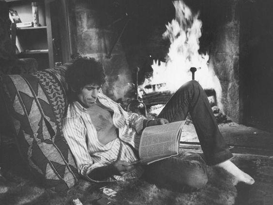 Keith Richards at Home by Ken Regan