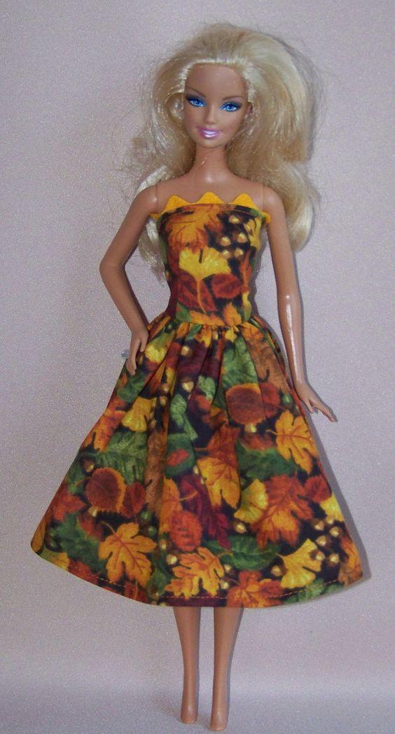 Handmade Barbie Doll Clothes  Fall Leaf by PersnicketyGrandma, $4.00