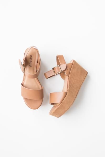 Open toe platform wedge heels Single band  Vegan suede covered platform Wedge heel True to US size Lightly padded insole Adjustable ankle strap with buckle fast
