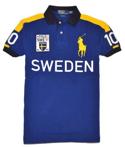Polo Ralph Lauren Men Custom Fit Big Pony T-Shirt - SWEDEN $109.99 #canihavethis