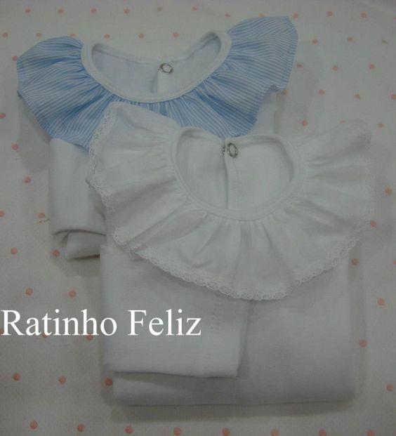 Boide ou t-shirt com gola folho - Body/Babygrow - Catalogo | Lanterna Amarela