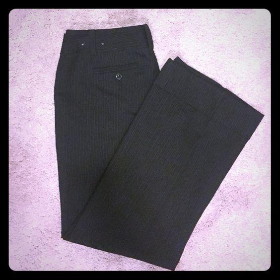 "Ann Taylor dress pants Black pinstripe. Ann Taylor signature fit, 6 petite. 29"" inseam, cuffed leg. Ann Taylor Pants Boot Cut & Flare"