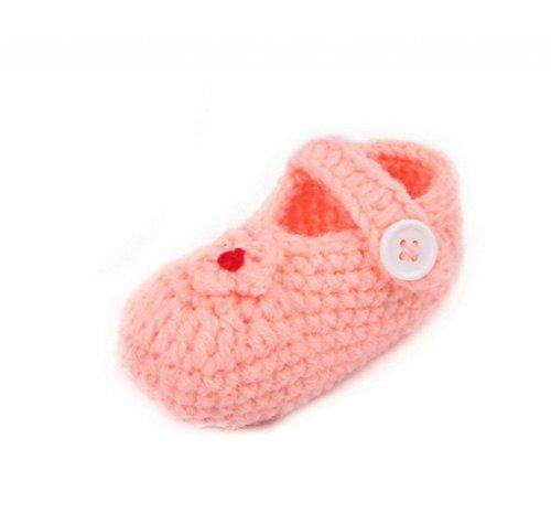 Smile YKK Gestrickte Baby Schuhe Krabbelschuhe flauschige Länge 11 cm Orangerot - http://on-line-kaufen.de/smile-ykk/schuh-laenge-11cm-smile-ykk-gestrickte-baby-11-cm-19