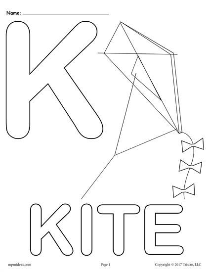 Pin On Coloring Pages For Kids Free letter k preschool worksheets