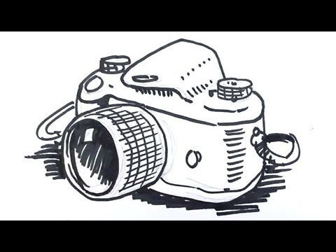 How to draw a Camera Real Easy - Spoken Tutorial - YouTube ...