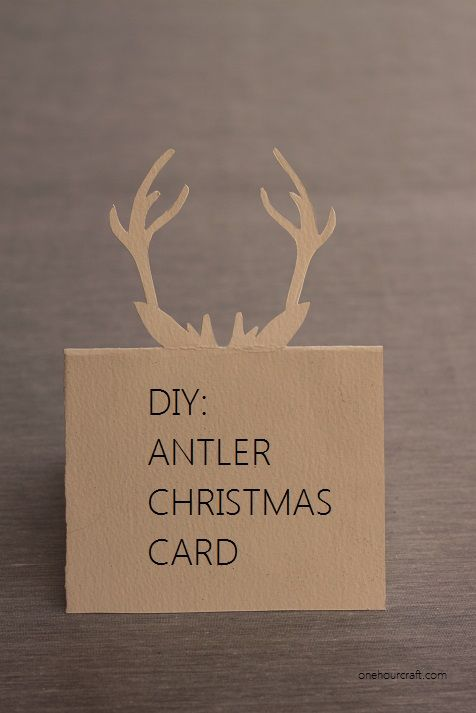 antlers christmas card template and marque place on pinterest. Black Bedroom Furniture Sets. Home Design Ideas