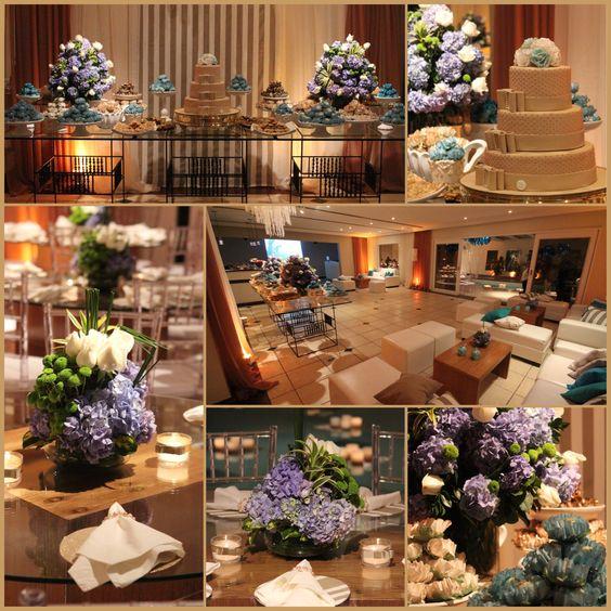 Decoração de Festa de Aniversário azul hortencia