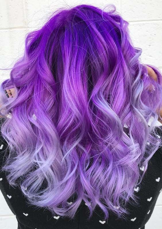 45 Absolutely Stunning Purple Hair Color Shades For 2018 Styleschannel Hair Color Unique Hair Styles Hair Color Purple