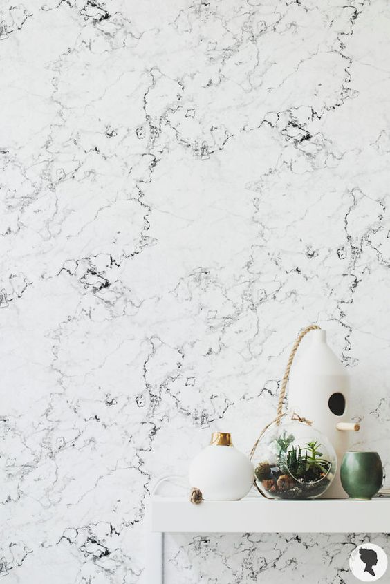 Marble Pattern Regular or Removable Wallpaper Marble by Livettes
