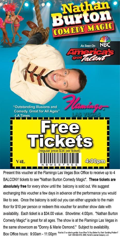 Las vegas entertainment coupons