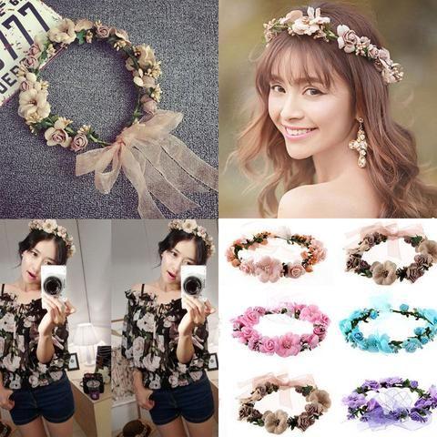 Women Girl Floral Lace Hairband Wide Headband Headwear Fashion Hair Acc Gifts