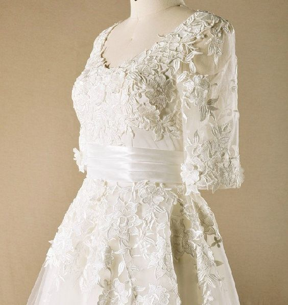 Tulle wedding dress 1950s tea length wedding dress by MillyCouture