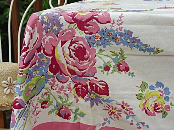 vintage tablecloth i m pretty sure my had one like