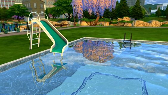 POOL SLIDE at Leo Sims • Sims 4 Updates