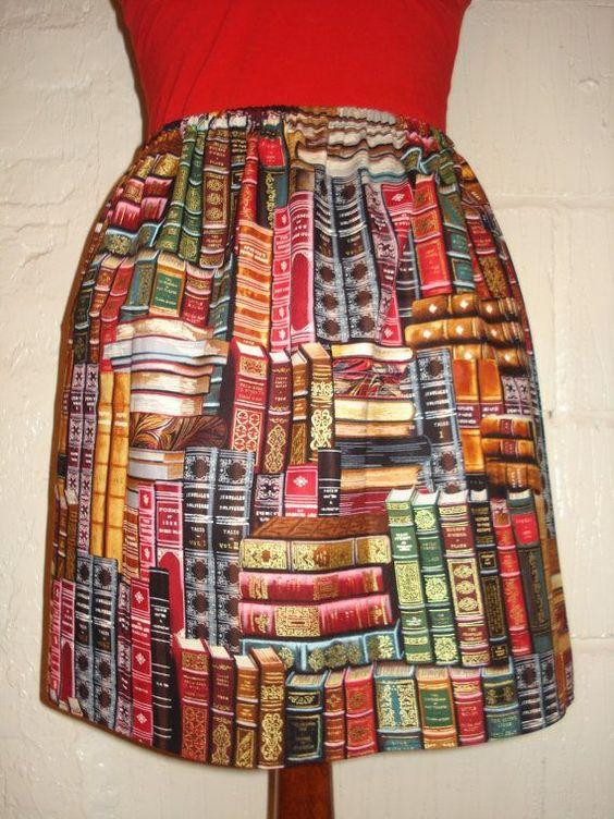 Cute book theme skirt