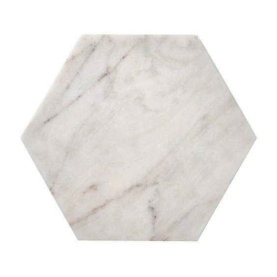 Marble Hexagon Chopping Board - Bed bath and Table