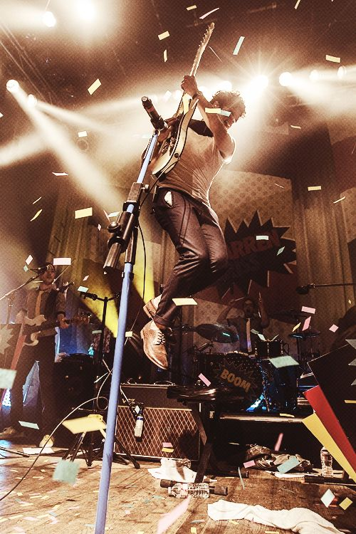Darren was even flying!