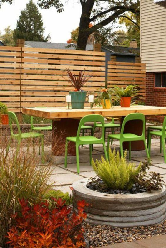 gartenzaungestaltung - 20 beispiele für selbstgebaute gartenzäune, Garten und Bauen