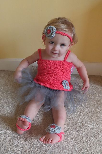 Crochet Baby Tutu Dress Pattern : Ravelry: Crochet Baby Tutu Dress pattern by Rebecca Anne ...