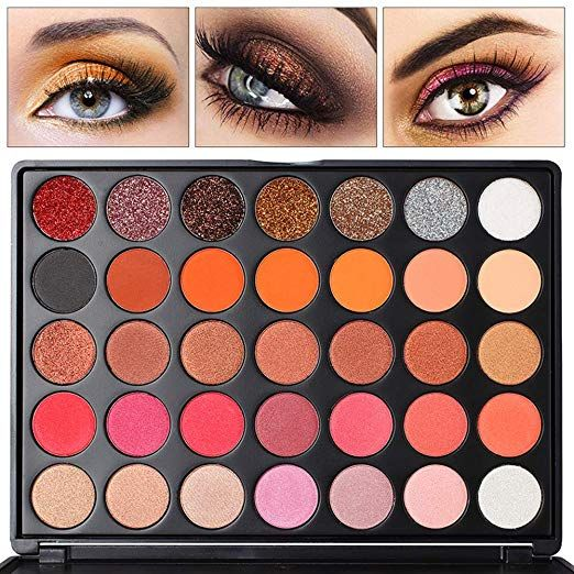 Professional Eyeshadow Palette 21 Colors Shimmer Shades And 7