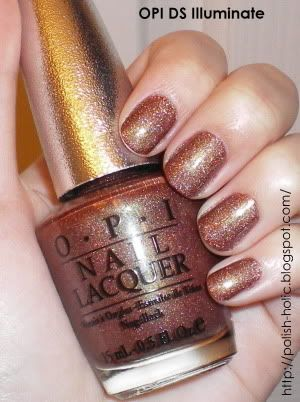 Love this color on my nails and toes....perfect for Fall!  OPI DS Illuminate