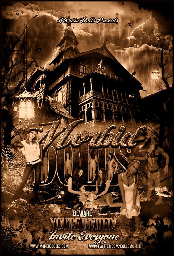Morbid Dolls Recruiting Movie Poster. Evil Dark Sexy Models. Suicide Girls.