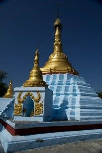 Blue Pagoda And Golden Top
