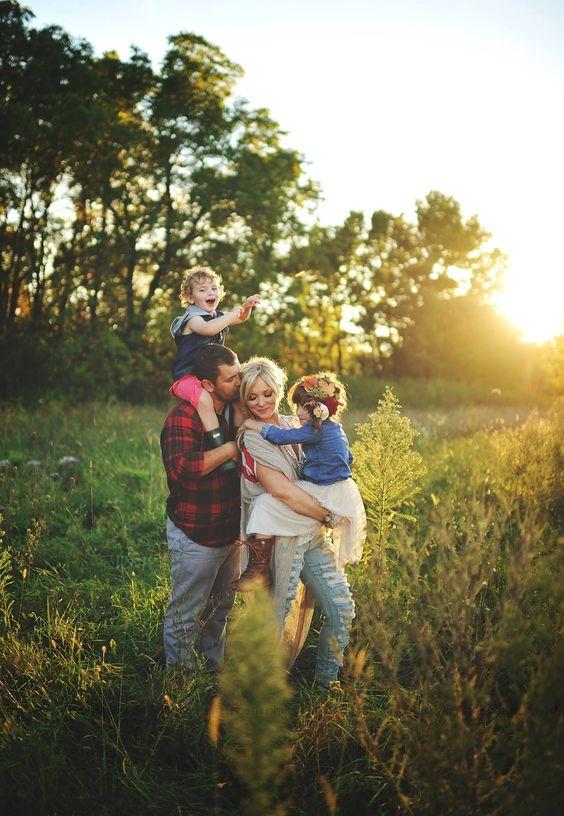 Familie macht glücklich.