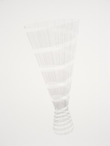 Palden Weinreb, Untitled (Torsion Study #3), 2011, graphite on paper, 76 x 56 cm (30 x 22 in)