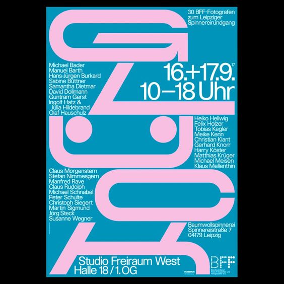 Our Poster Gluck For The Bff Exhibition At Baumwollspinnerei Was Selected Amongst The 100 Beste Plakate Deutschland Osterreich Schweiz Plakat Bff Poster S