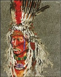 Artwork by Paul Pletka, Buffalo Caller, Made of Acrylic on linen kp