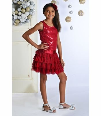 Biscotti Girls Red Christmas Party Dress - Tween Dresses ...