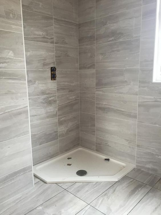 B And Q Red Bathroom Tiles : Fossilised wood pebble stone effect ceramic wall floor