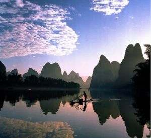 """There is a Chinese saying that states """"Guilin's landscape is best among all under heaven."""""""