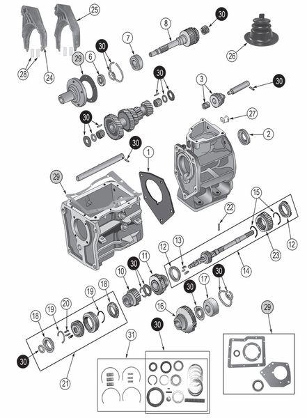 Transmission Borg Warner Sr4 Exploded View Diagram The