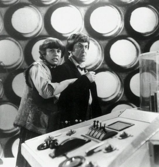 Hug the Doctor!!!  Fraser Hines and Patrick Troughton