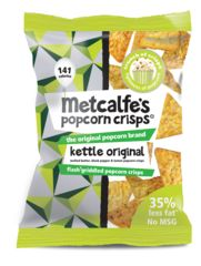 Popcorn Crisps: Corn Crisps with 30% less fat than Tortilla Chips - Metcalfe's skinny