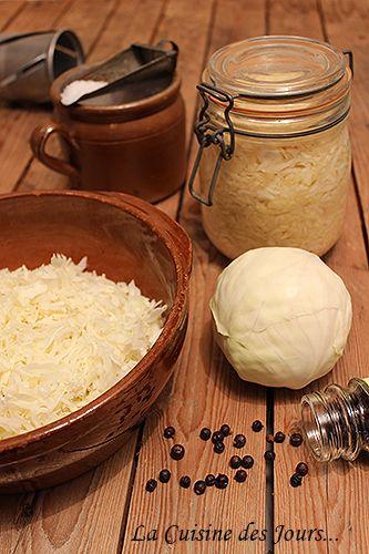 Faire Sa Choucroute Soi-Même - Maintenant à la maison la choucroute c'est maison ! Photo : Eric - La Cuisine des Jours... © 2015