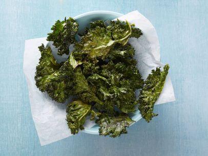 Crispy Roasted Kale: Crispy Roasted, Olive Oils, Kale Recipes, Crispy Kale, Food Network/Trisha, Healthy Food