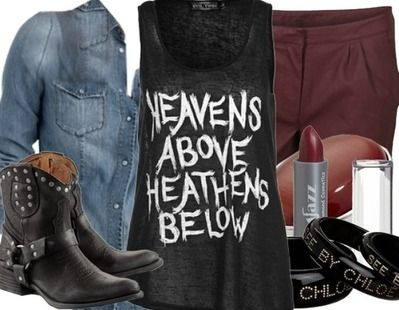 MINUS the boots, I would never wear that. Replace with converse