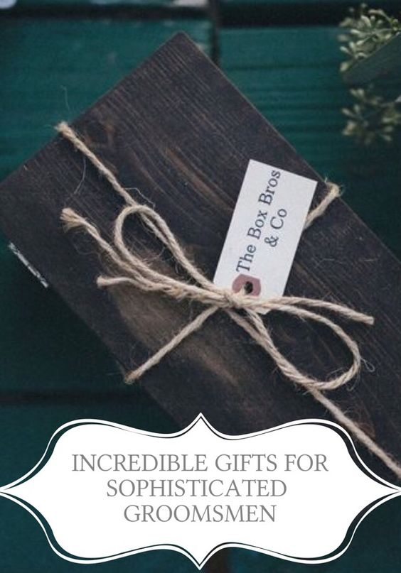 Brilliant #customizable #groomsmen gifts from www.theboxbros.com