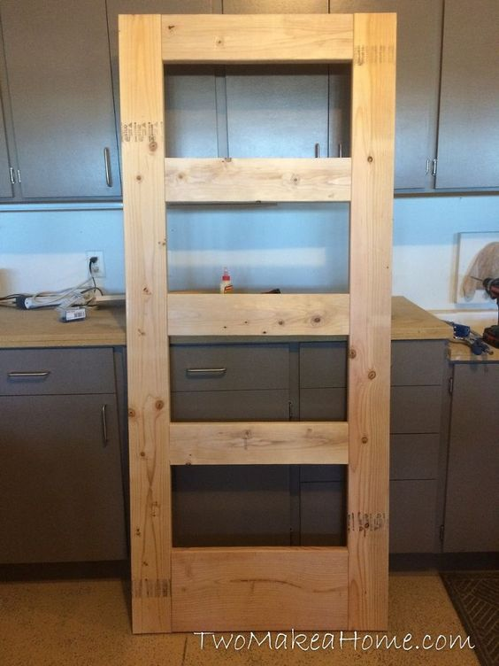 How to Build a Leaning Door Shelf (When You Don't Have an Old Door) :: Hometalk