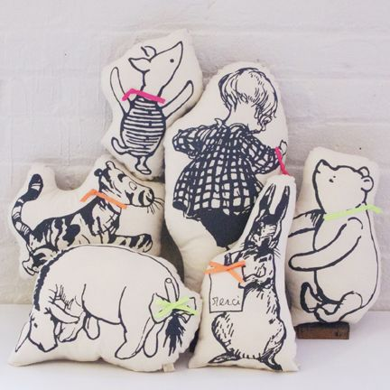 Winnie the Pooh screen printed pillows