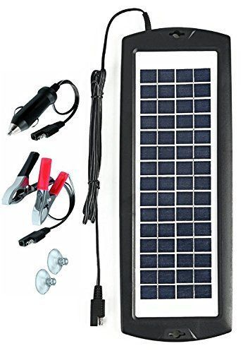 Marineelectronics Sunway Solar Car Battery Charger Portable Solar Power Trickle Charger Maintainer Backup For 12v Car Battery Charger Solar Car Rv Solar Power