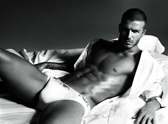 Thank you, Armani. Thank you so, so much. The fashion house featured David Beckham in the ad campaign for their underwear line in late 2007.