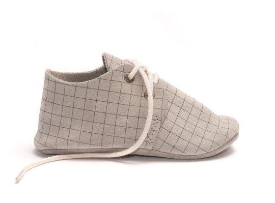 BABY OXFORD / DOVE GRID | Zuzii | Handmade Footwear from Los Angeles