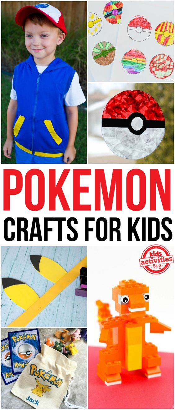 Pokemon crafts for kids homemade crafts and pokemon for Pokemon crafts for kids