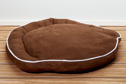 Luxury Bolster Pet Beds - Cocoa