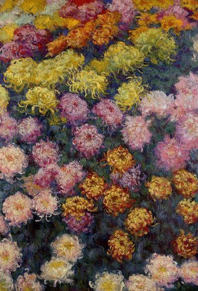 Bed of Chrysanthemums, Claude Monet 1890