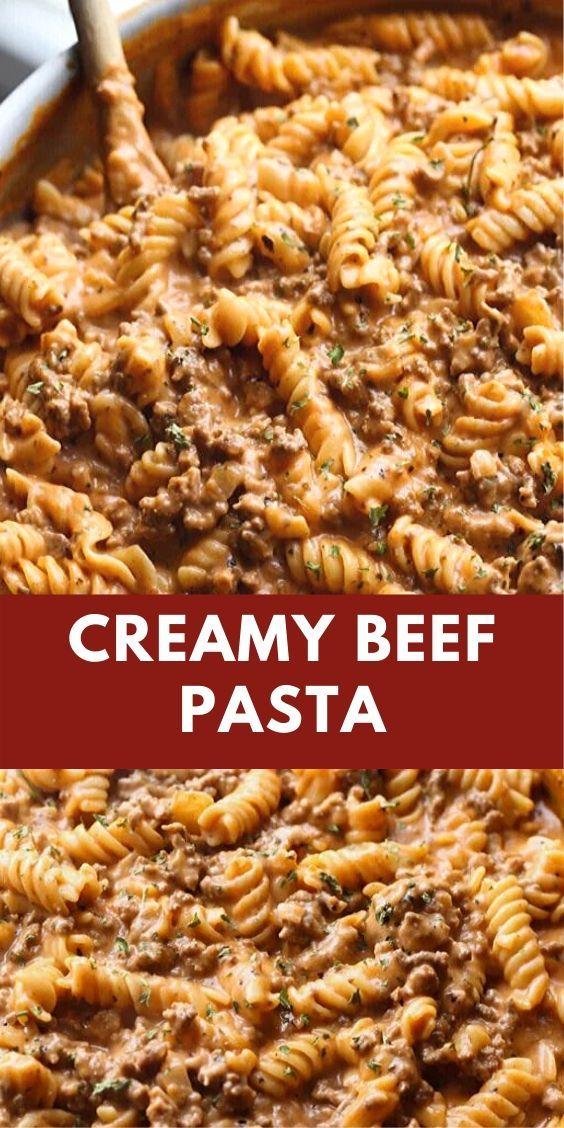 Creamy Beef Pasta Beef Pasta Recipes Beef Pasta Recipes
